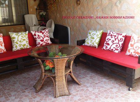 Panche da giardino con pedane EPAL