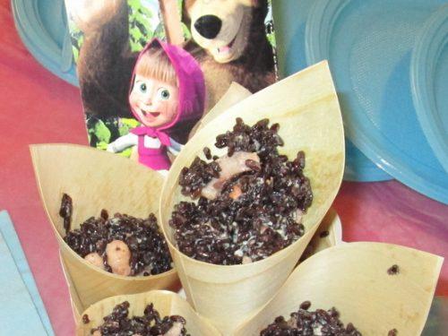 Ricette da buffet – Riso venere cozze e moscardini