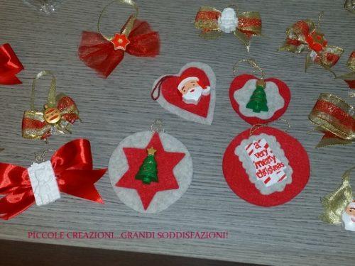 Addobbi albero di Natale con gessetti