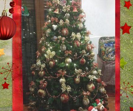Palle di Natale col patchwork