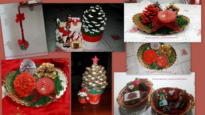Addobbi natalizi con le pigne piccole creazioni grandi - Decorazioni natalizie con le pigne ...