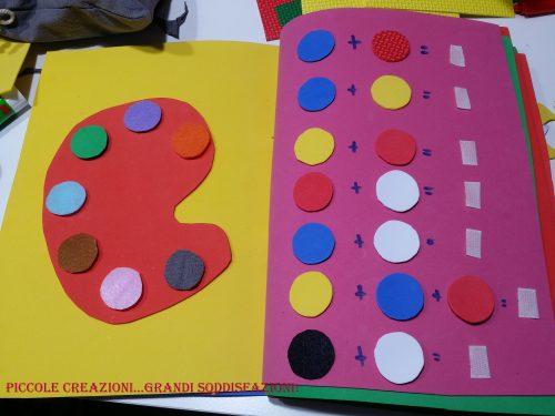 Quiet book senza cucire – terza parte – Gioco dei colori