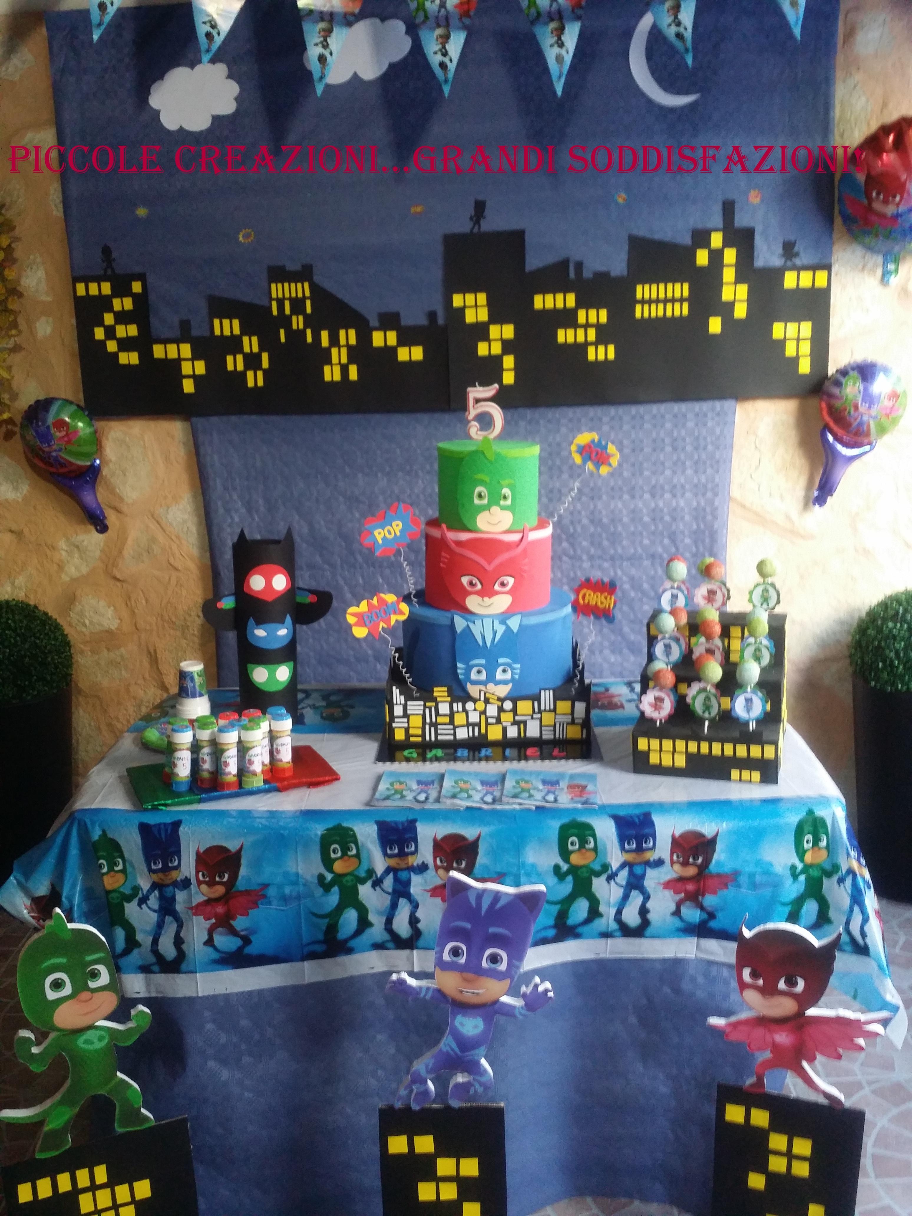 Sweet Table Dei Pj Masks Piccole Creazioni Grandi Soddisfazioni
