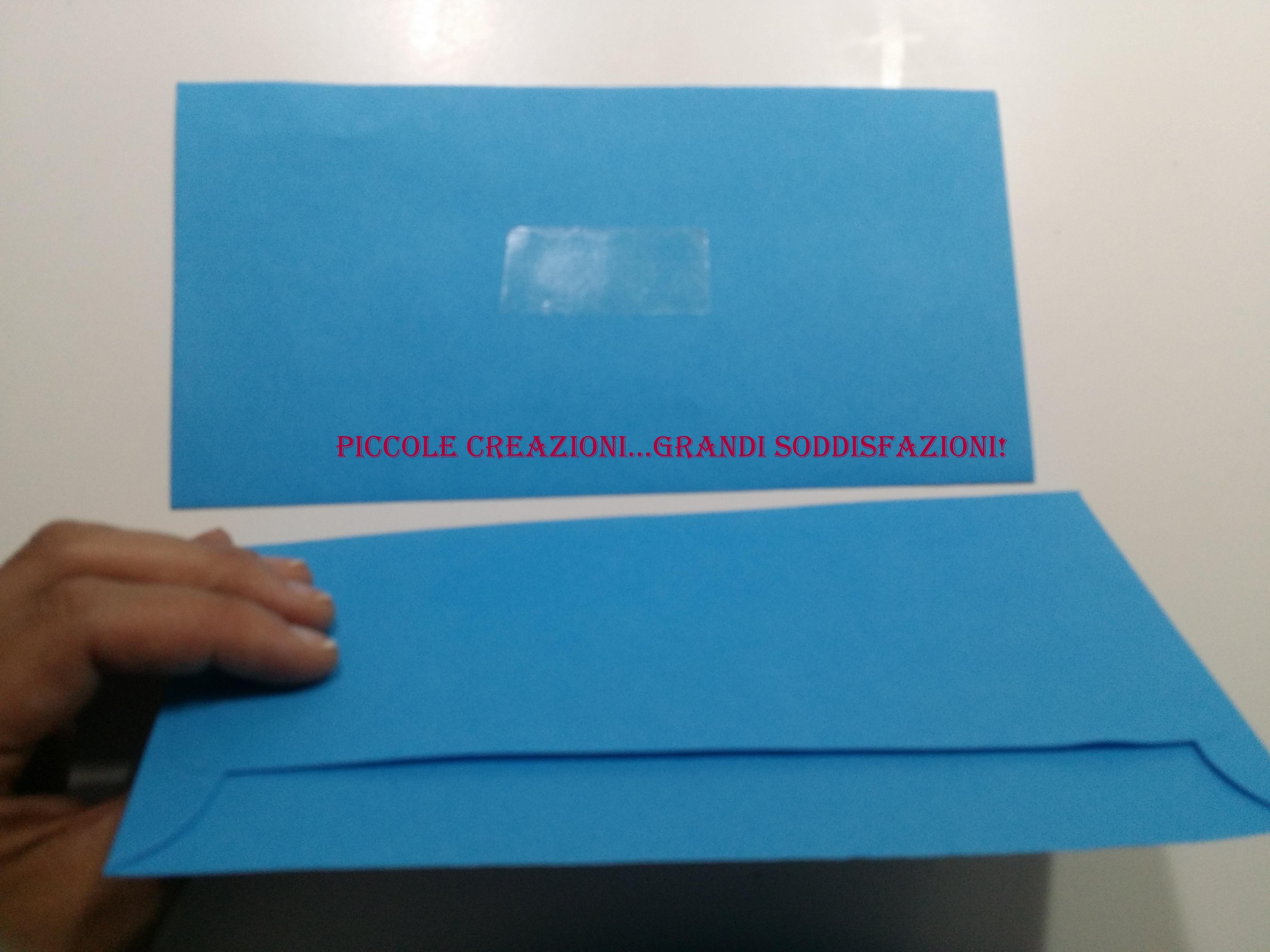 Porta scontrini con buste da lettere riciclate