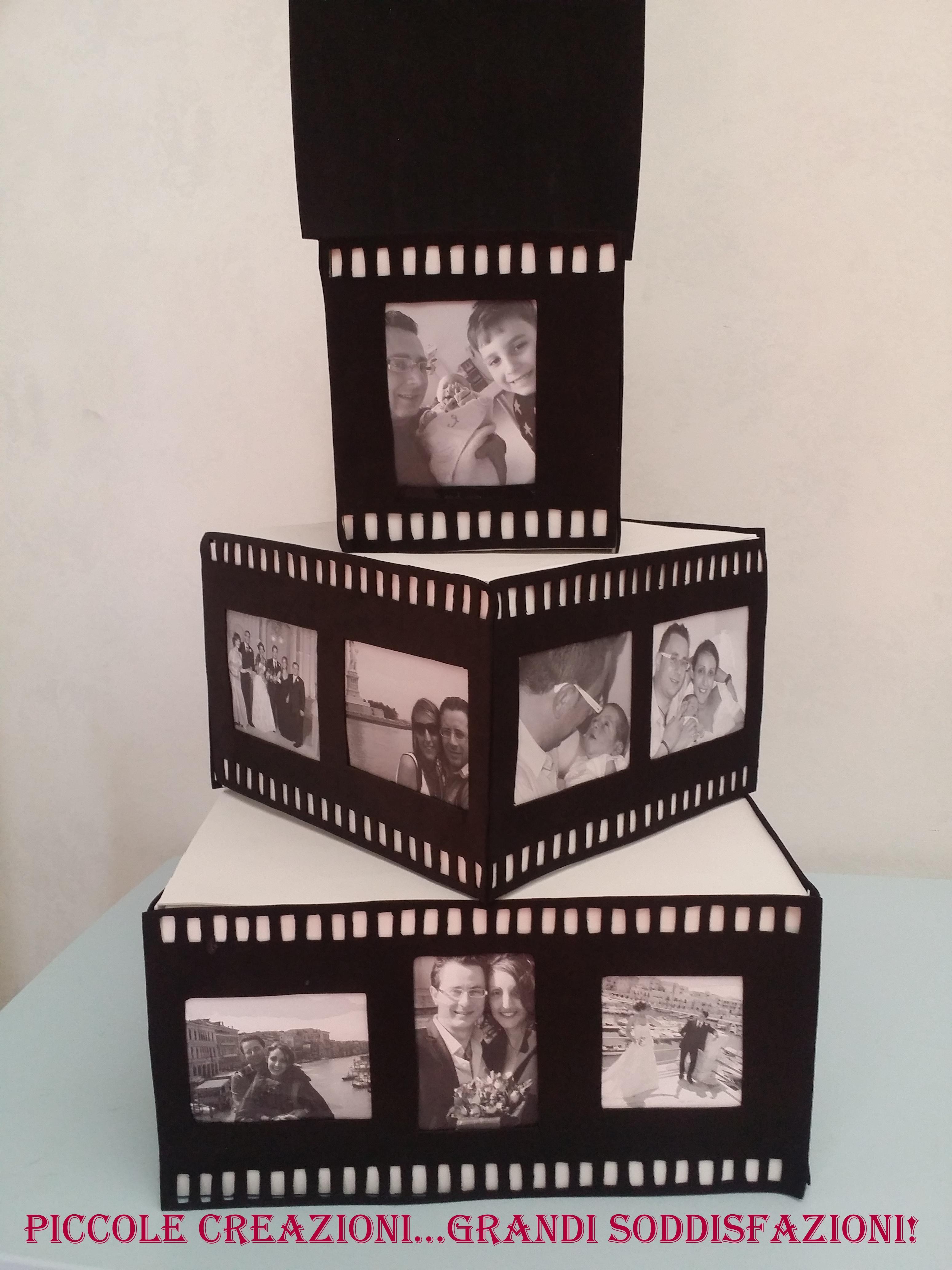 Torta con foto in pellicola cinematografica