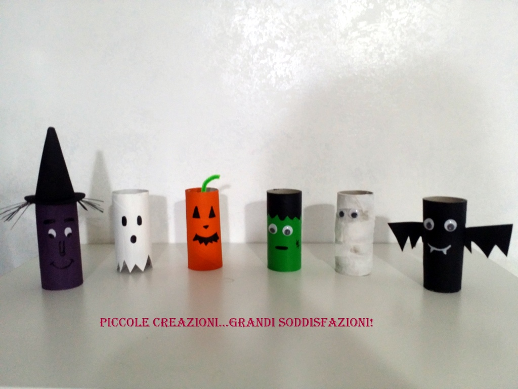 Cose Creative Con La Carta mostri di halloween con rotoli carta igienica | piccole