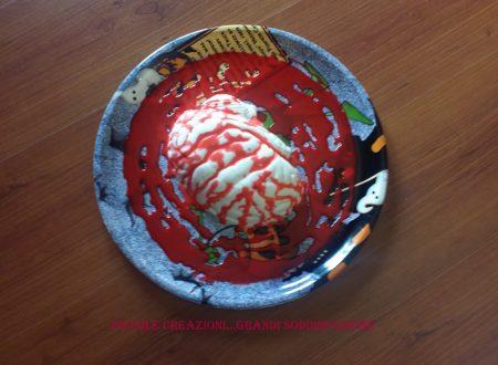 Cervello di panna cotta per Halloween