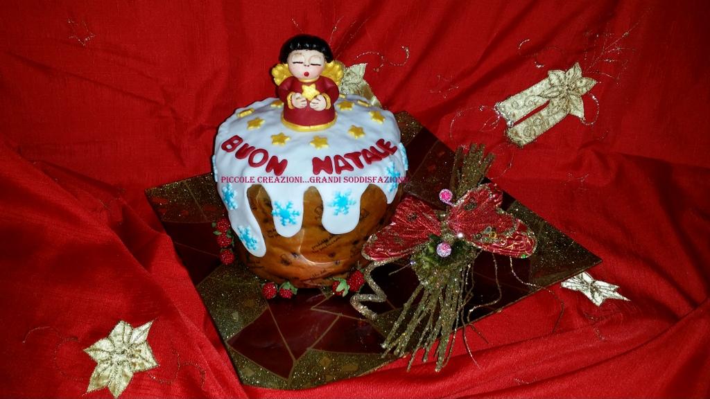 Ben noto Panettone con cake topper angelo Thun natalizio | Piccole  BQ85