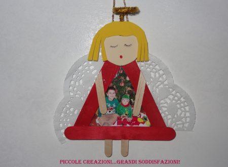 Angelo di Natale portafoto