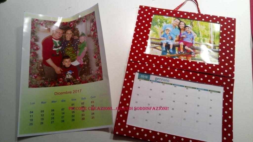 Calendario componibile con foto fai da te