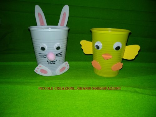 Bicchieri pulcino e coniglietto