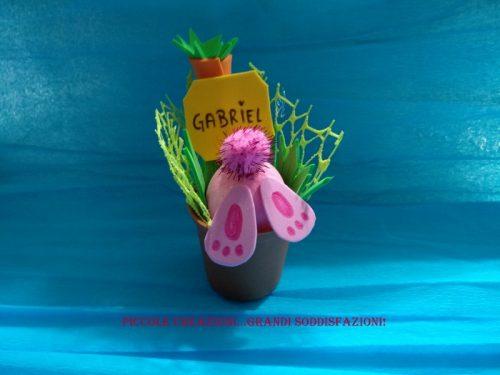 Segnaposto di Pasqua coniglietto