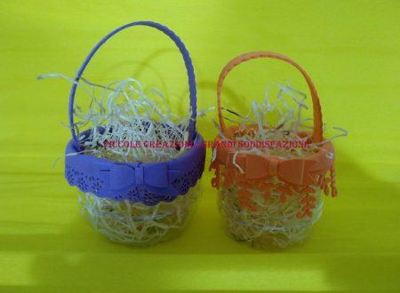 Cestini di Pasqua con bottiglie di plastica riciclate