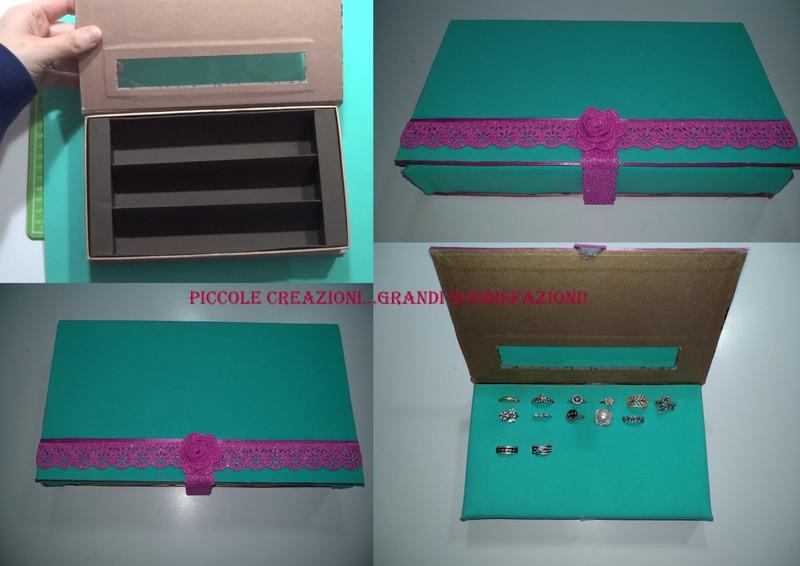 Porta anelli con una scatola di cioccolatini riciclata - Porta dischetti struccanti ...