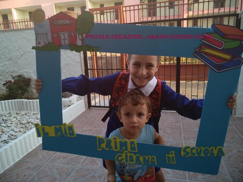 Cornice primo giorno di scuola