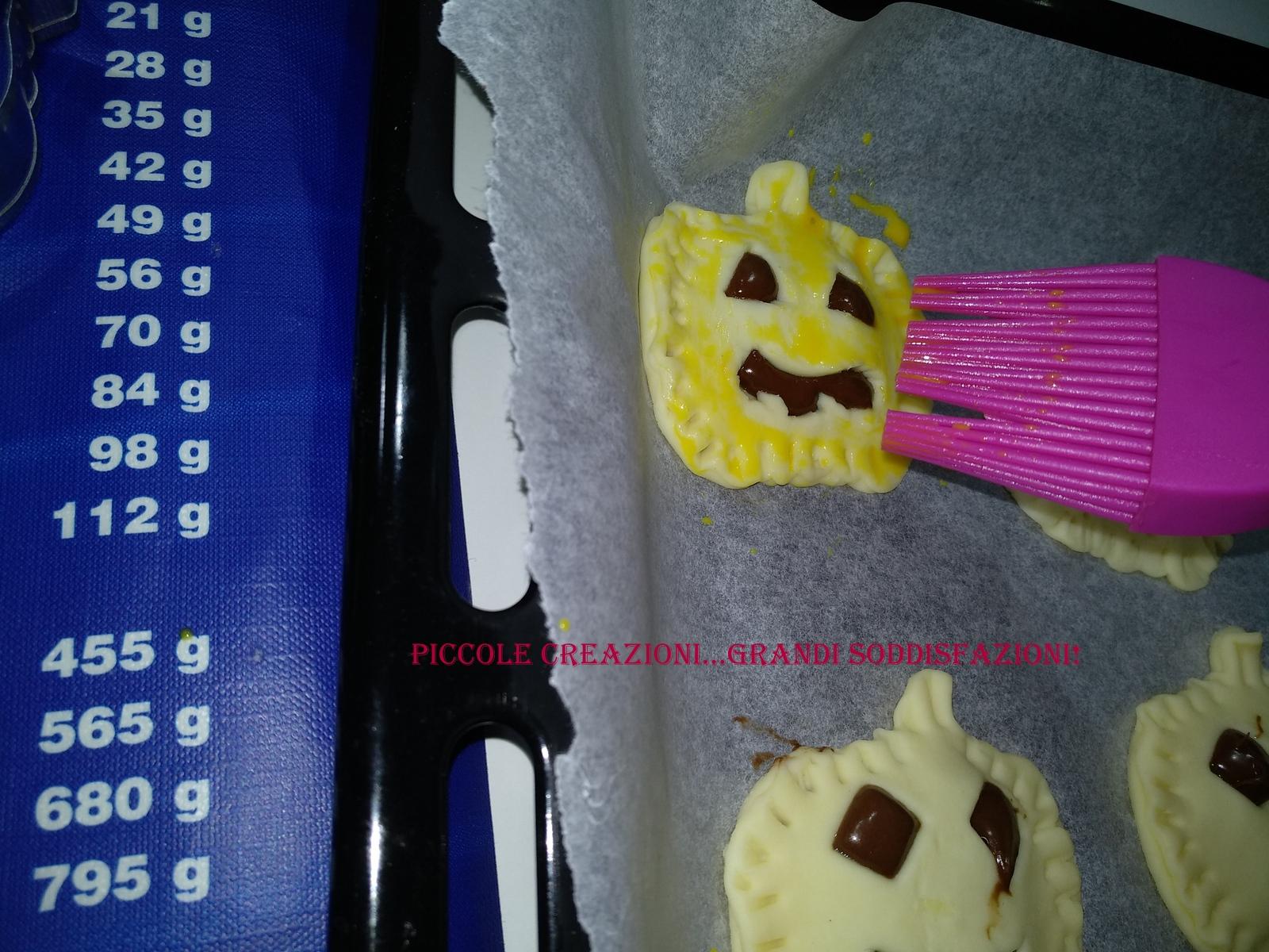 Zucche di Halloween alla nutella
