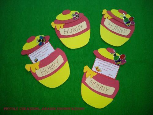 Inviti party a tema Winnie the Pooh