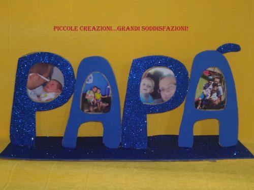Cornice di cartone per la festa del papà
