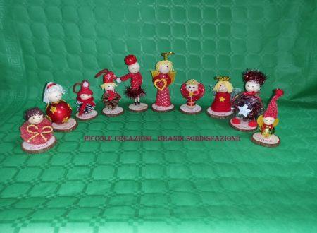 Angioletti e bamboline segnaposto natalizi