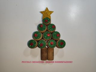 Albero di Natale con tappi di sughero
