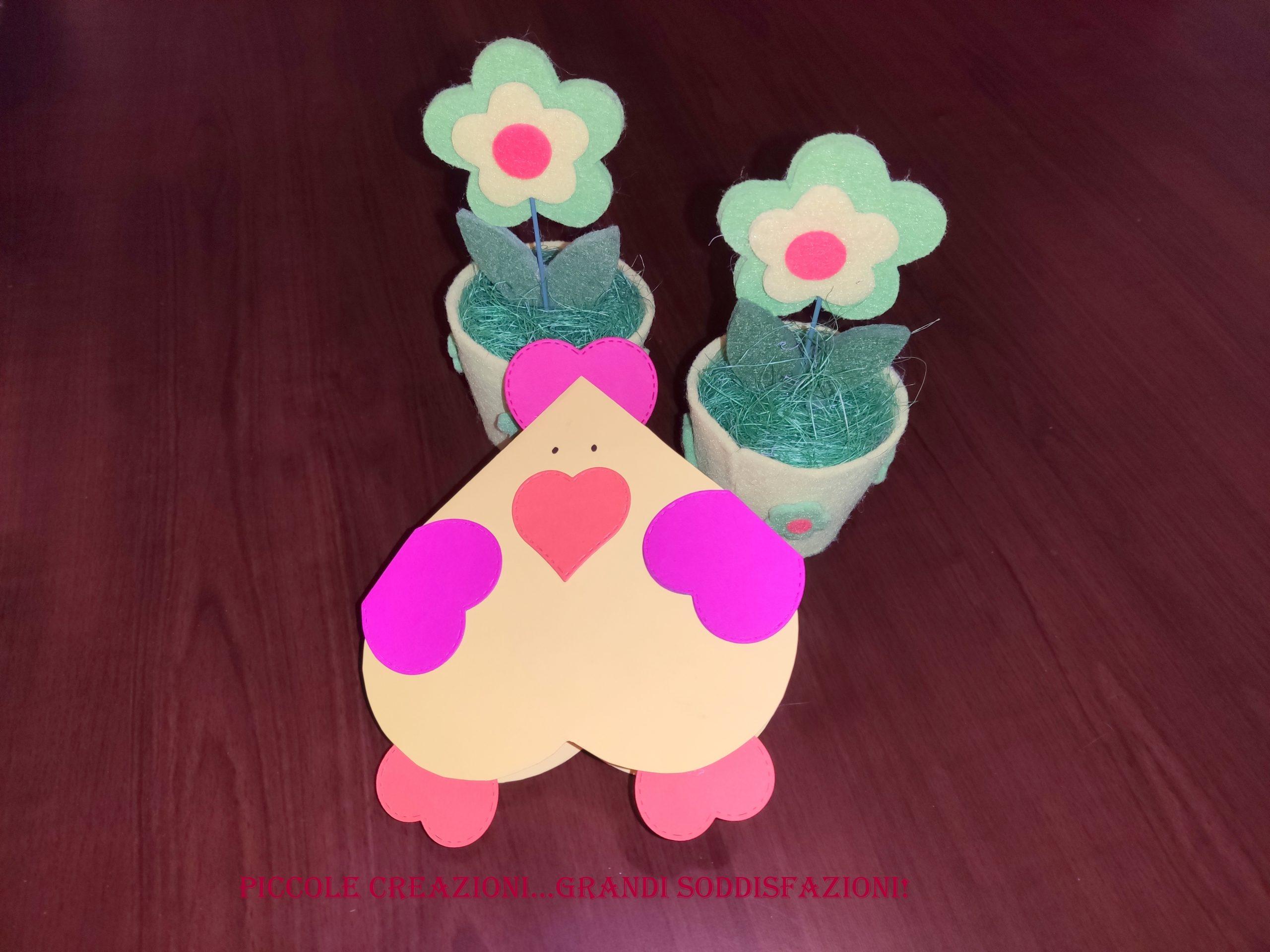 Biglietto di auguri gallina di Pasqua